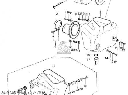 Kawasaki Kx250-a5 1979 parts list partsmanual partsfiche