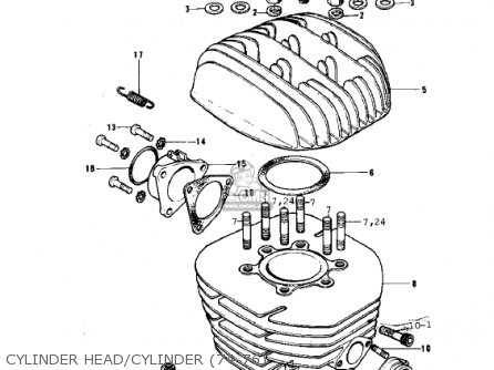 Kawasaki Kx250-a5 1979 parts list partsmanual partsfiche