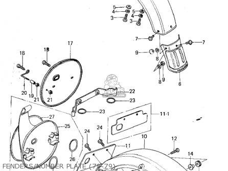 Kawasaki KX250-A5 1979 parts lists and schematics