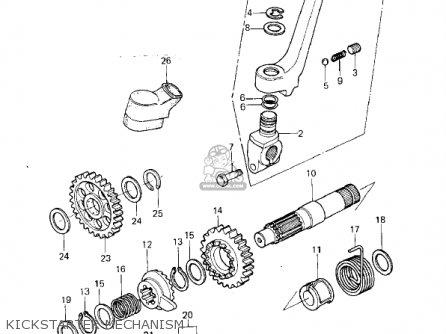 Kawasaki Kx250-a6 Kx250 1980 Usa Canada Export parts list