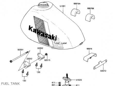 Kawasaki Kx250-b1 Kx250 1982 Usa Canada parts list