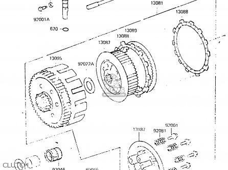 Kawasaki KX250-C2 1984 USA CANADA UK AL parts lists and