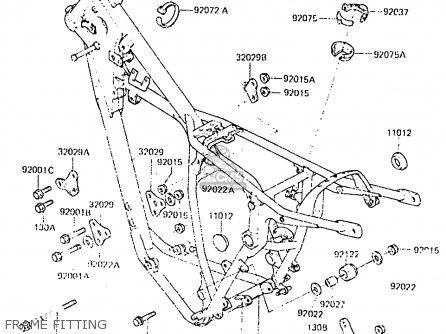 Kawasaki Kx250-c2 1984 Usa Canada Uk Al parts list