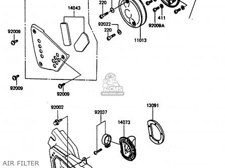 Kawasaki Kx250-d1 1985 United Kindom Al parts list