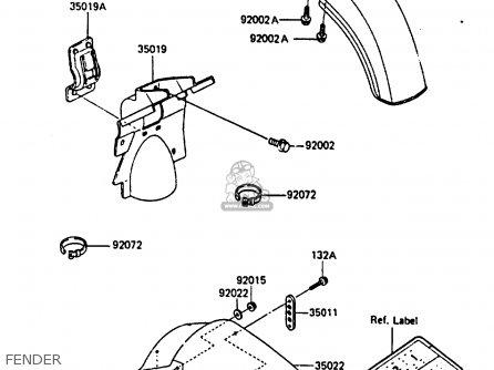 Kawasaki KX250-D1 1985 UNITED KINDOM AL parts lists and