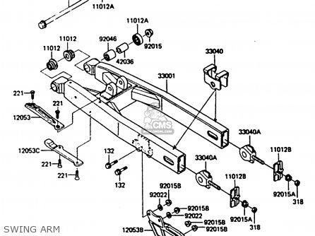 Kawasaki Kx250-d1 1985 United Kindom Al parts list