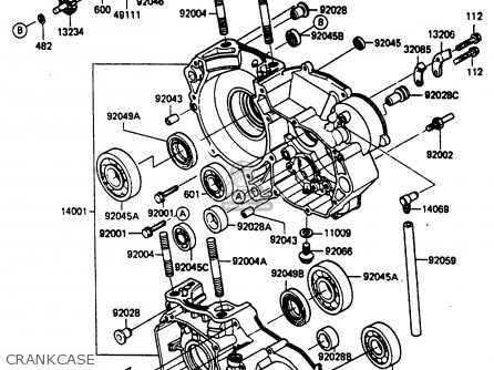 Kawasaki KX250-D2 1986 EUROPE UK AL parts lists and schematics