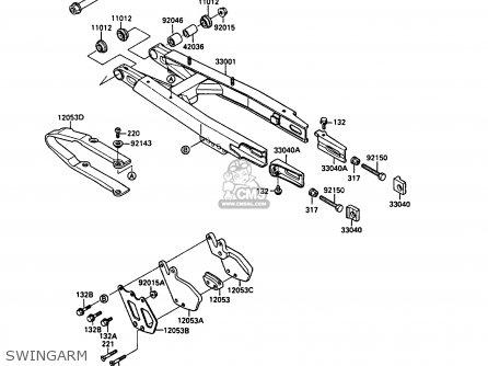 Kawasaki KX250-G1 1989 EUROPE UK AL parts lists and schematics