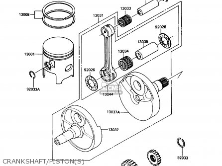 Kawasaki KX250-G1 1989 USA CANADA parts lists and schematics