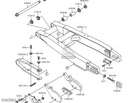 Kawasaki KX250-H1 1990 EUROPE UK AL AS parts lists and