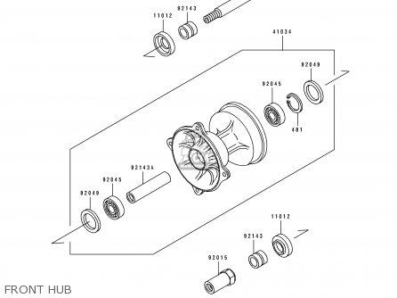 Kawasaki KX250-H1 1990 USA CANADA parts lists and schematics