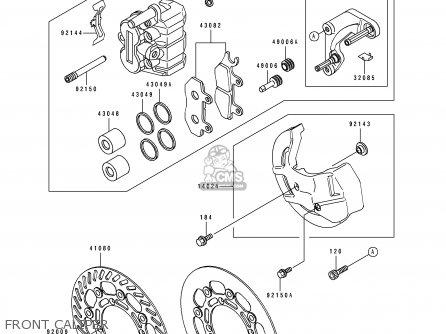 Kawasaki KX250-J1 1992 EUROPE AS parts lists and schematics