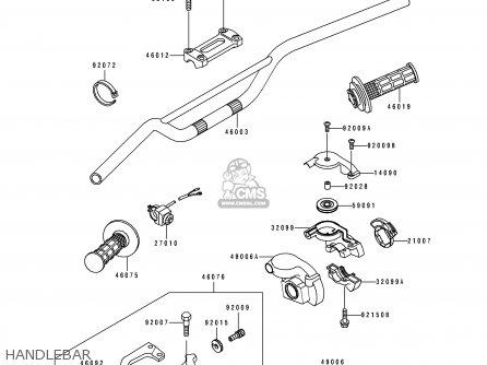 Kawasaki Kx250-j1 1992 Europe As parts list partsmanual