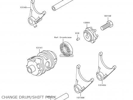 Kawasaki KX250-J2 1993 KX250 EUROPE AS parts lists and