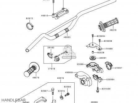 Kawasaki Kx250-j2 1993 Kx250 Europe As parts list