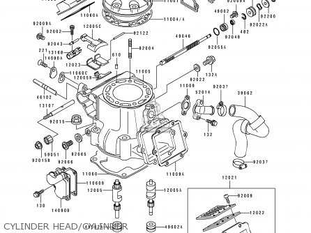 Kawasaki KX250-J2 1993 USA CANADA parts lists and schematics