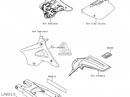 Kawasaki KX250-K1 1994 EUROPE AS parts lists and schematics