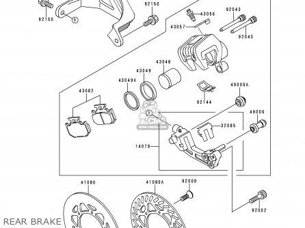 Kawasaki KX250-K1 1994 EUROPE AS parts lists and schematics