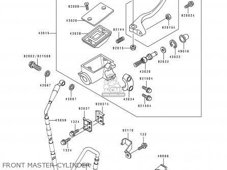Kawasaki Kx250-k2 1995 Usa Canada parts list partsmanual