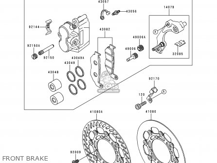 Kawasaki Kx250-k3 1996 Usa Canada parts list partsmanual