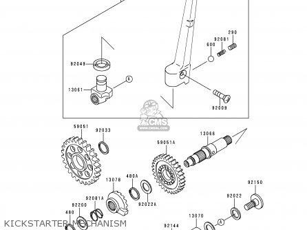 Kawasaki KX250-K4 1997 EUROPE FR AS parts lists and schematics