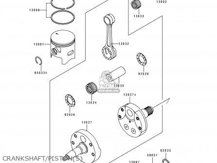 Kawasaki Kx250-k4 1997 Usa Canada parts list partsmanual
