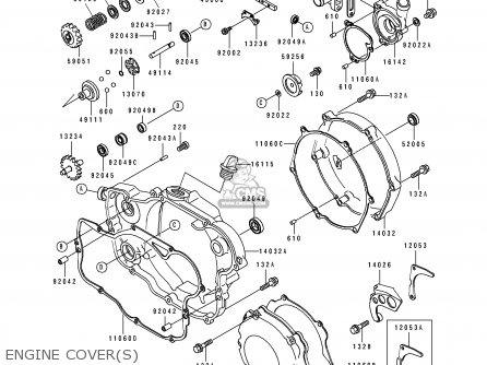 Kawasaki KX250-K4 1997 USA CANADA parts lists and schematics