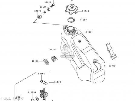 Kawasaki KX250-K5 1998 EUROPE FR AS parts lists and schematics