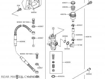 Kawasaki KX250-K5 1998 USA CANADA parts lists and schematics
