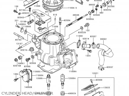 Kawasaki KX250-L1 1999 EUROPE FR AS parts lists and schematics