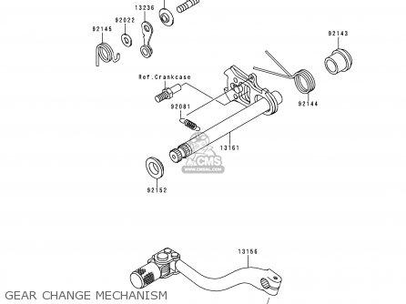 Kawasaki KX250-L1 1999 EUROPE FR AS parts lists and schematics