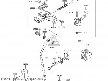 Kawasaki Kx250-l2 2000 Europe As parts list partsmanual