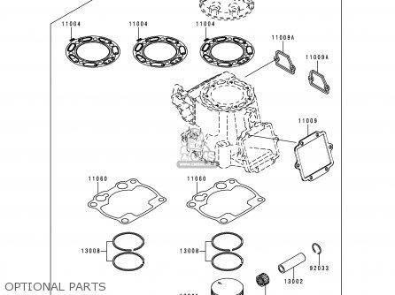 Kawasaki Kx250-l2 2000 Europe As parts list partsmanual