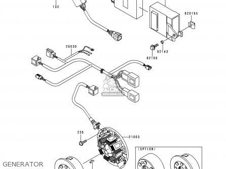 Kawasaki KX250-L2 2000 USA CANADA parts lists and schematics