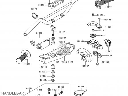 Kawasaki KX250-L2 2000 USA CANADA parts lists and schematics