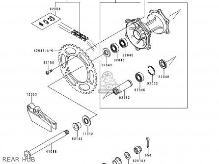 Kawasaki Kx250-l2 2000 Usa Canada parts list partsmanual