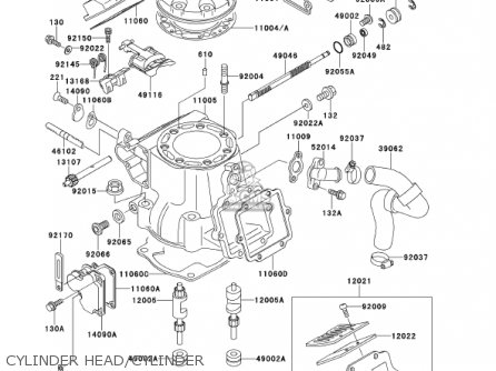 Kawasaki Kx250-l3 Kx250 2001 Usa Canada parts list