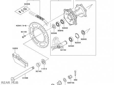 Kawasaki Kx250-l3 Kx250 2001 Usa Canada parts list
