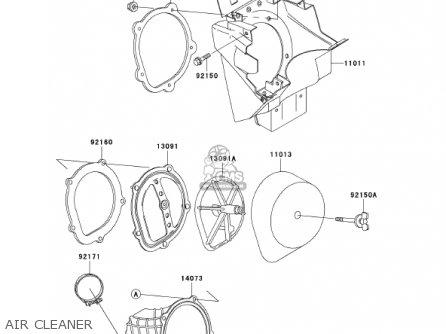Kawasaki Kx250-l4 Kx250 2002 Usa Canada parts list
