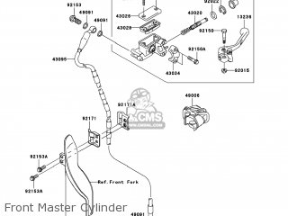 Kawasaki KX250-W9FA KX250F 2009 USA parts lists and schematics