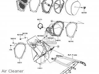Kawasaki KX250-XAFB KX250F 2010 USA parts lists and schematics