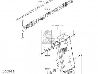 Kawasaki KX250-YBF KX250F 2011 USA parts lists and schematics