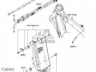 Kawasaki KX250-YCF KX250F 2012 USA parts lists and schematics