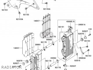 Kawasaki KX250R7F 2007 EUROPE parts lists and schematics