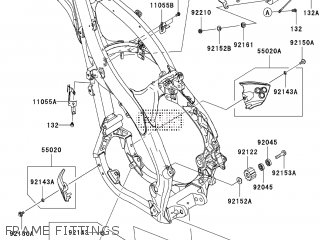 Kawasaki KX250YBF 2011 EUROPE parts lists and schematics