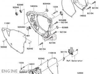 Kawasaki KX250YCF 2012 EUROPE parts lists and schematics