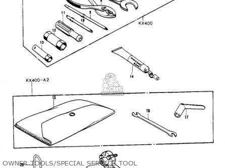 Kawasaki KX400 1975 USA parts lists and schematics