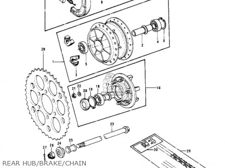 Kawasaki Kx400 1975 Usa parts list partsmanual partsfiche
