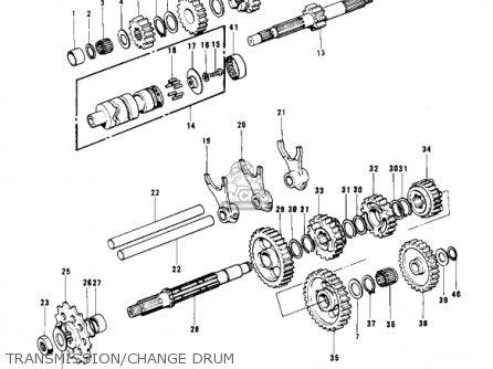 Kawasaki Kx400 1975 Usa parts list partsmanual partsfiche