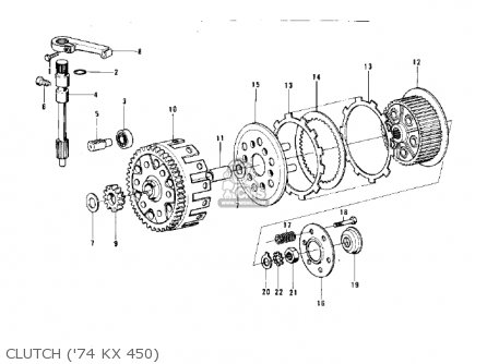 Kawasaki KX450 1974 parts lists and schematics